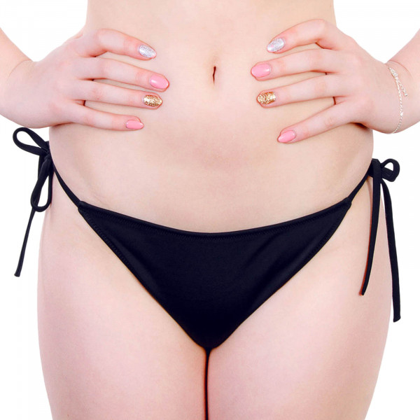 Ck Wmn Bikini String Slip Cheeky Black