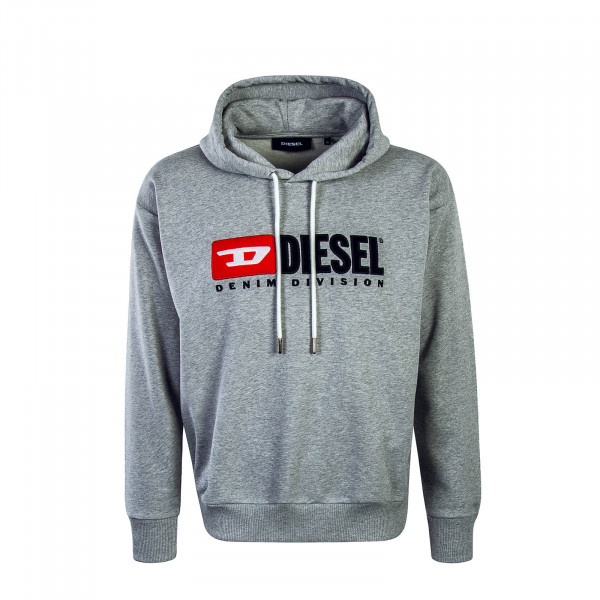 Diesel Hoody Division Felpa Grey
