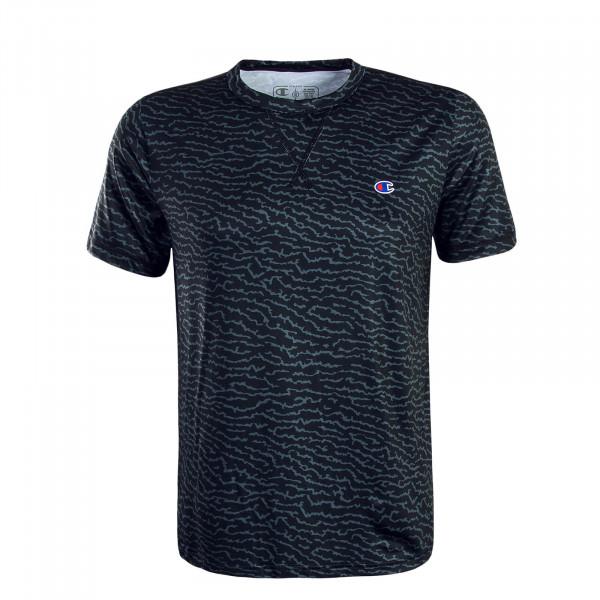 Herren T-Shirt Allover Black