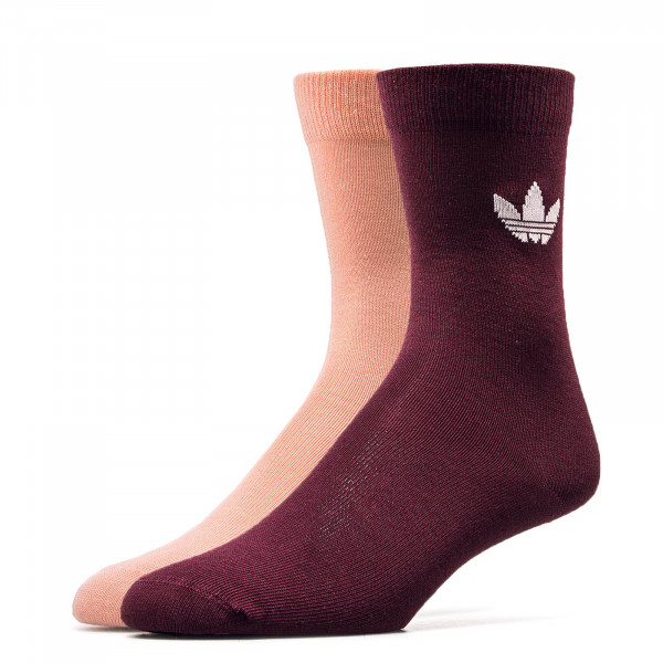 Adidas Socks 2Pk Thin Tref Bordo Rose