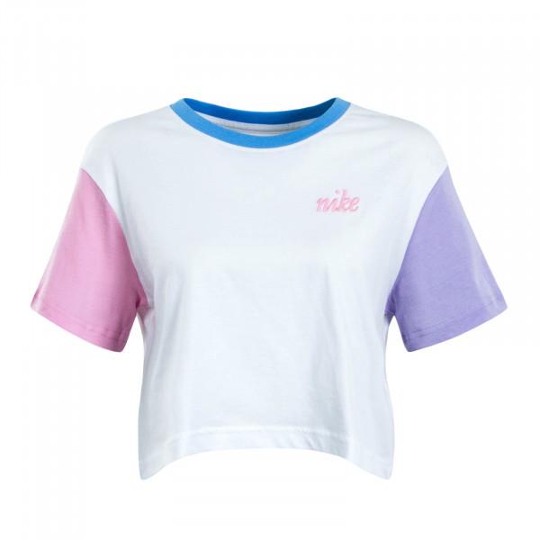 Damen T-Shirt Crop Femme 2 Crop White Sky