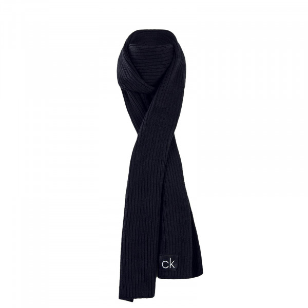 CK Scarf Basic Rib Black