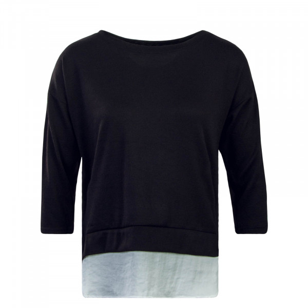 Damen Longsleeve 3/4 Ella Black White