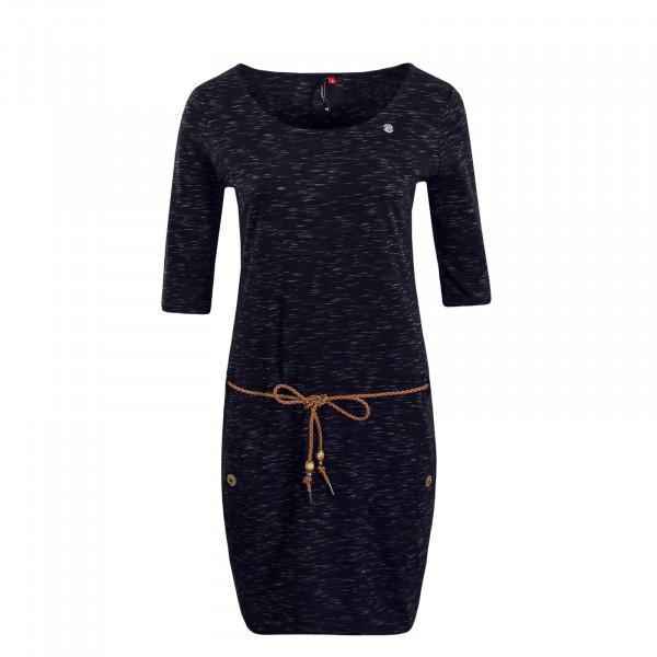 Damenkleid Tanya Slub Black Melange