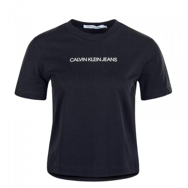 Damen T-Shirt Shrunken Institution Black