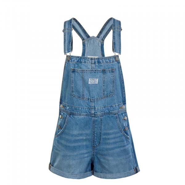 Damen Latzhose - Vintage Shortall Open Skies - blue