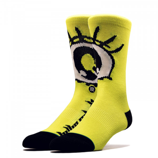 Unisex Socken Billie Eilish Eyes Neon Yellow