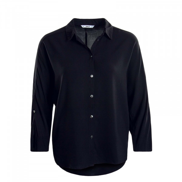 Damen Bluse - Nova 3/4 Sleeve Solid - Black