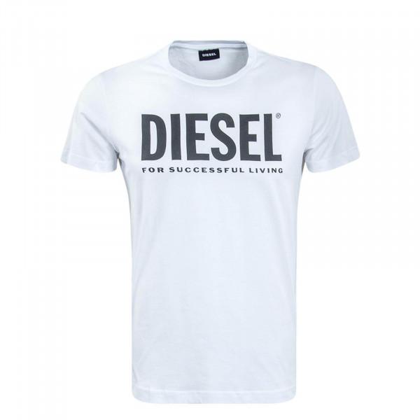 Herren T-Shirt Diego Logo White Black