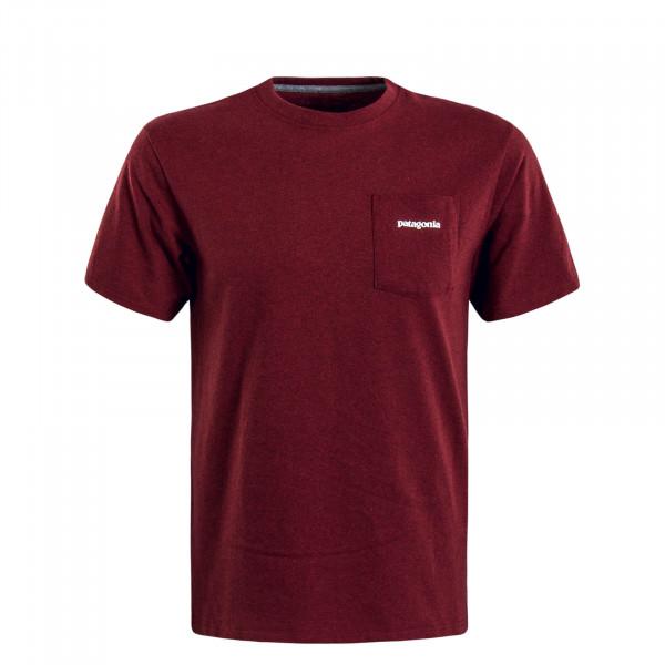 Herren T-Shirt P6 L.Pocket Bordeaux