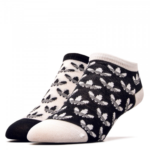 Socken 2er Pack Trefoil Liner Black White