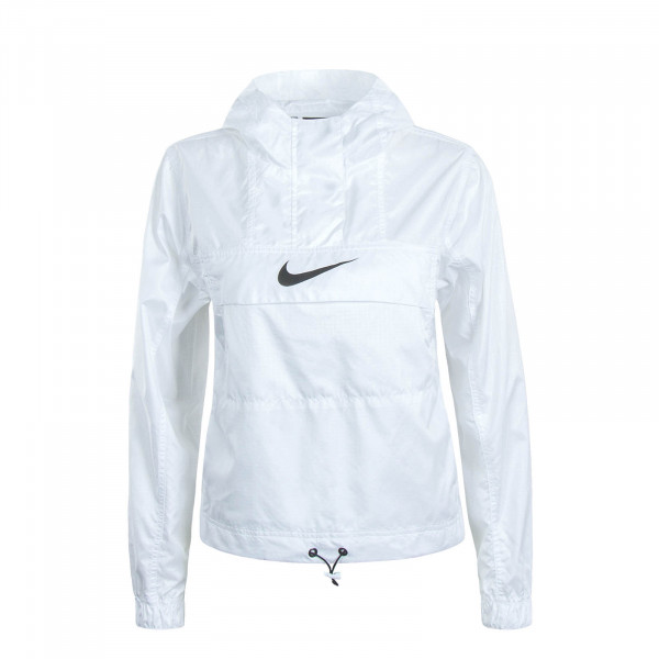 Damen Windbreaker Animal White Black