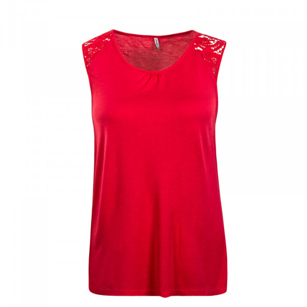 Damen Top Alba Crochet Coral