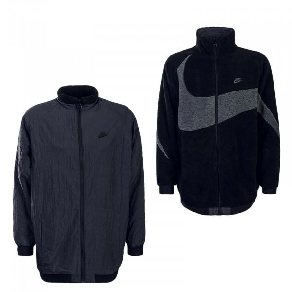 Nike Jkt NSW SWSH Fullzip Black Antra