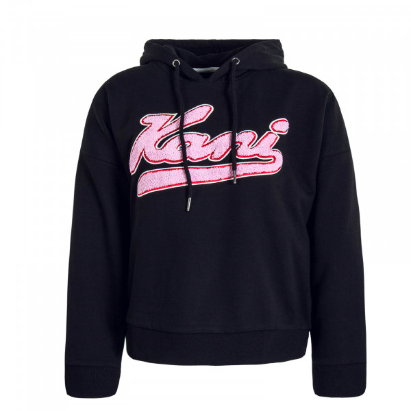 Damen Hoody College Black Pink