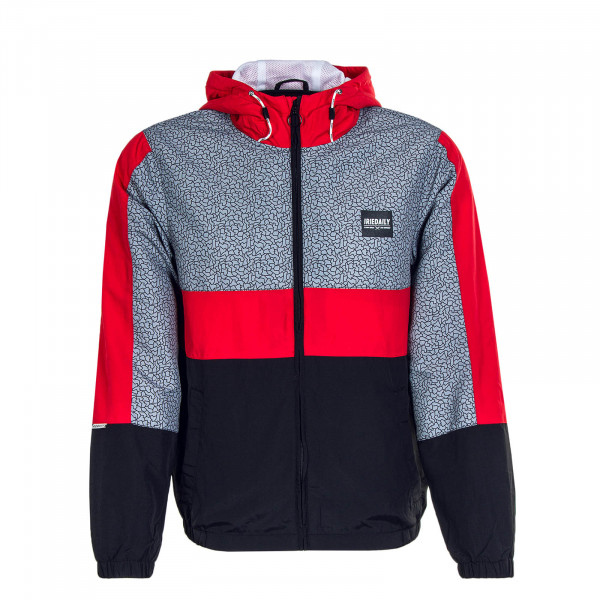 Herrenjacke Prime Red Grey Black