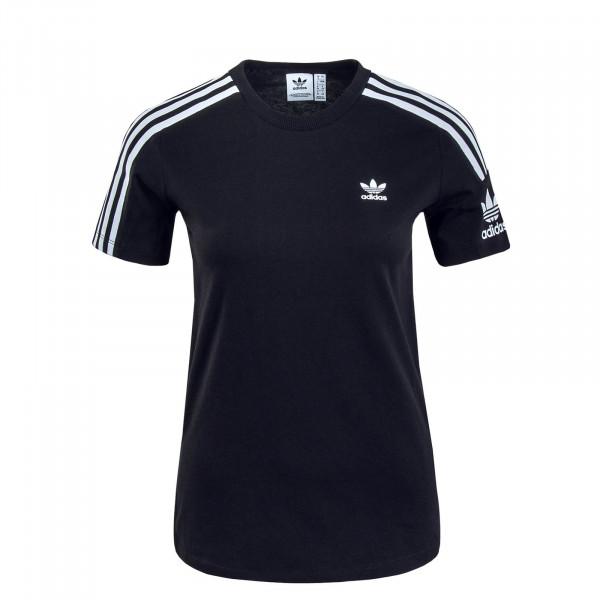 Damen T-Shirt Lock Up Black White