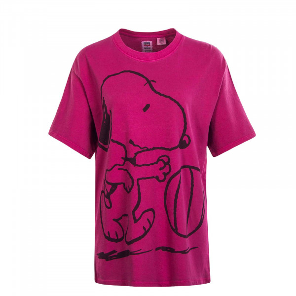 Damen T-Shirt Graphic Relaxed Snoopy Pink