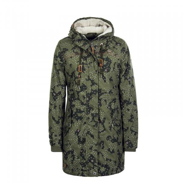Damenmantel Tawny Camouflage Olive