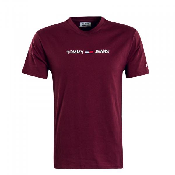 Herren T-Shirt 7231 Small Logo Bordeaux