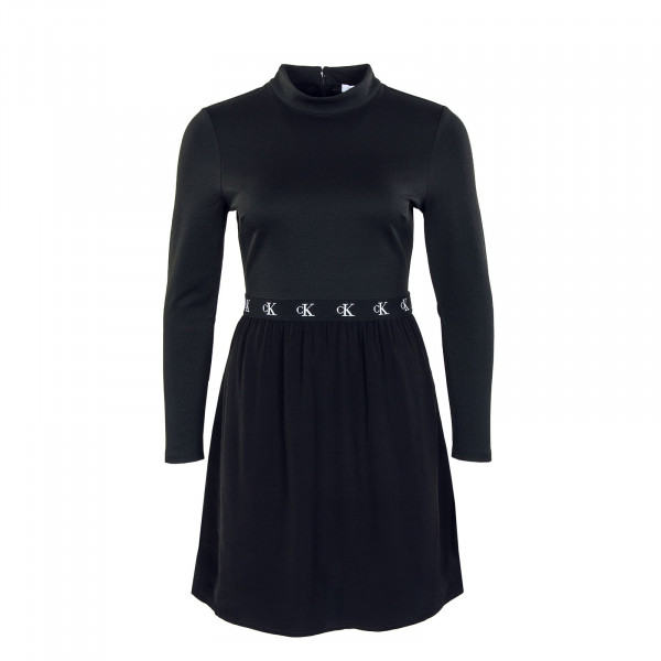 Damen Kleid Logo Elastic Dress Black