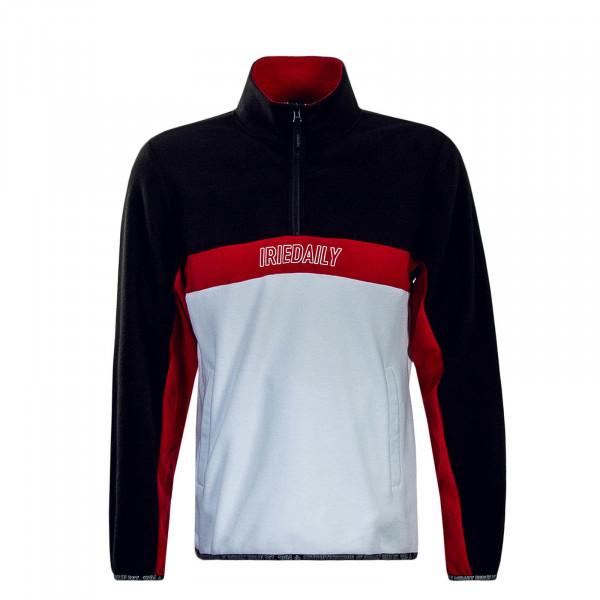 Herren Sweatshirt Fleece White Black Red