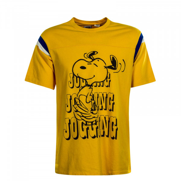 Herren T-Shirt Football Jogging Fusion Snoopy Yellow