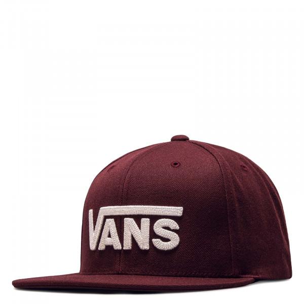 Snapback-Cap Vans Drop V 2 Maroon White