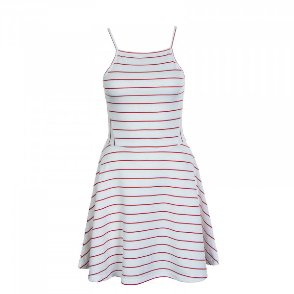 Kleid Loui S/L Box JRS Cloud Dancer Stripe