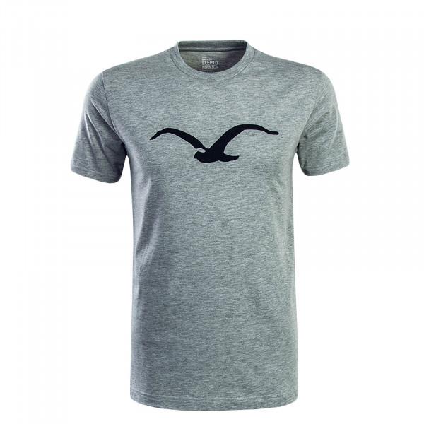 Herren T-Shirt Moto Grey Black