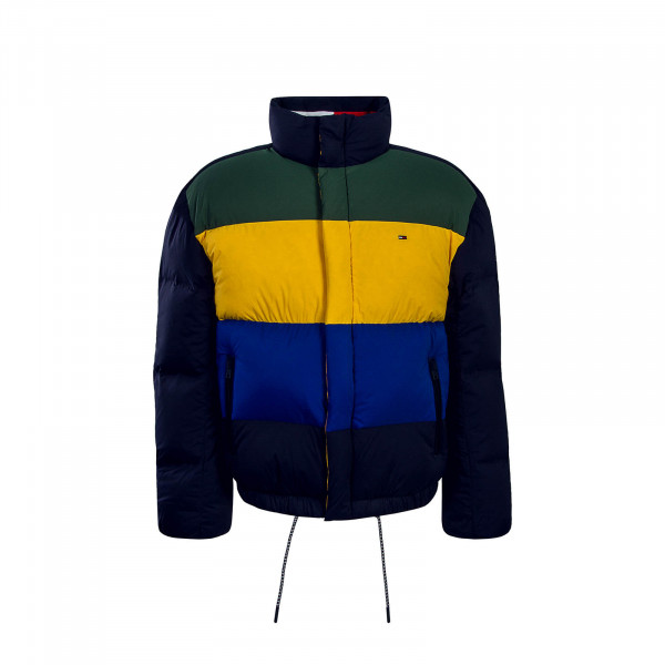 Tommy Jkt Oversize Color Down Navy Multi