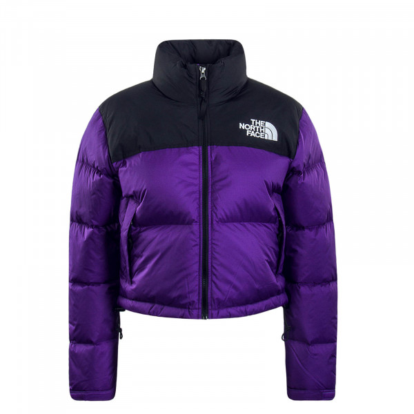 Damen Jacke Nuptse Crop Purple