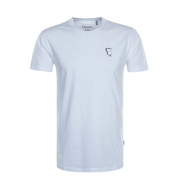 Herren T-Shirt Embroidery Toast White