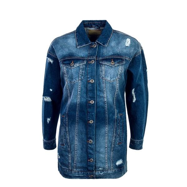 Only Jeans Jkt Crispy Long Medium Blue