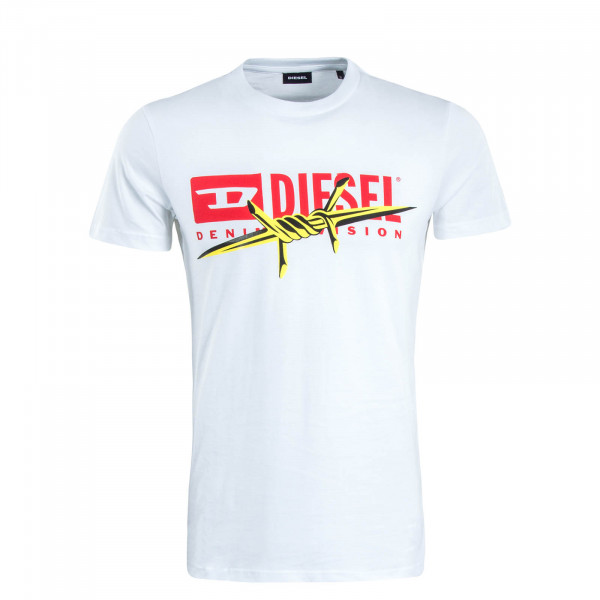 Herren T-Shirt Diego White Red Yellow