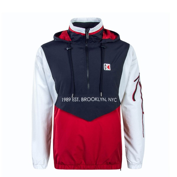 Kani Windbreaker Retro Block Wht Red Blu