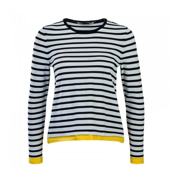 Only LS Suzana Stripe White Black Yellow