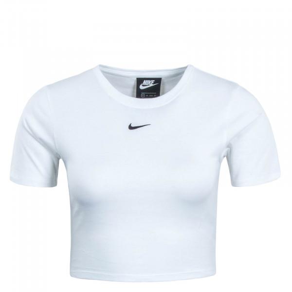 Damen T-Shirt NSW Essential Crop White Black