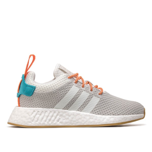 Adidas U  NMD R2 Summer Grey White Orang