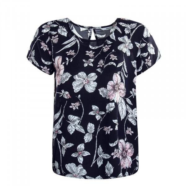 Damen T-Shirt First One Life Navy Flower