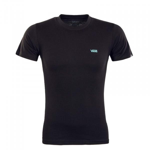 Herren T-Shirt - Left Chest Logo - Black / Waterfall