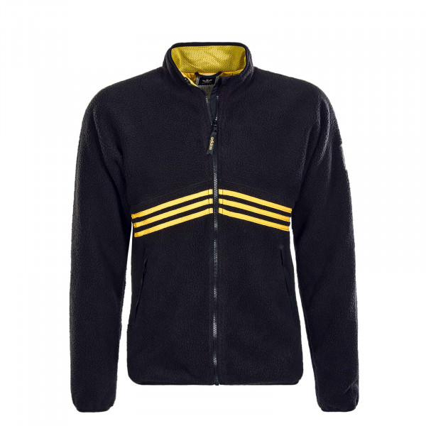 Herren Jacke Sherpa Full Zip Black Yellow