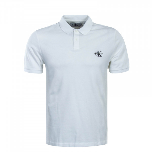 Poloshirt New Monogram Logo White