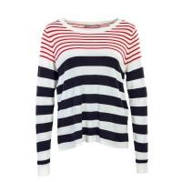 Only Knit Mila Stripe Beige Red Navy