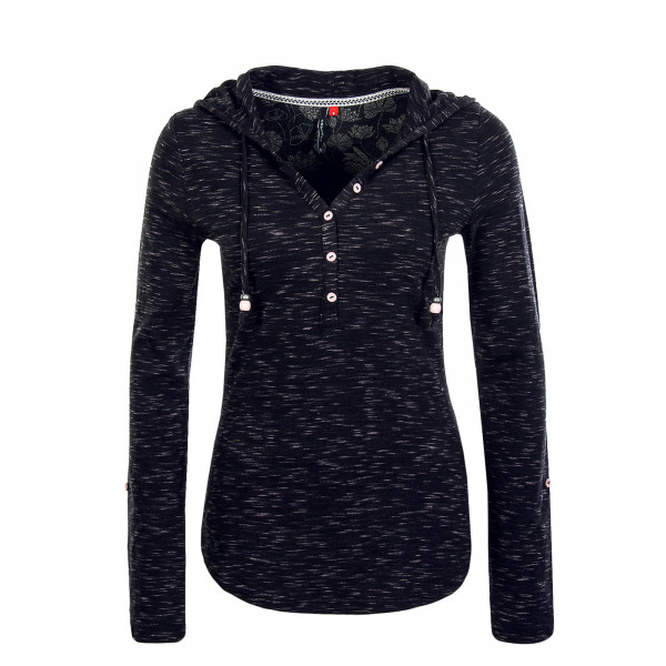 Damen Longsleeve  Drop Sparkle Black