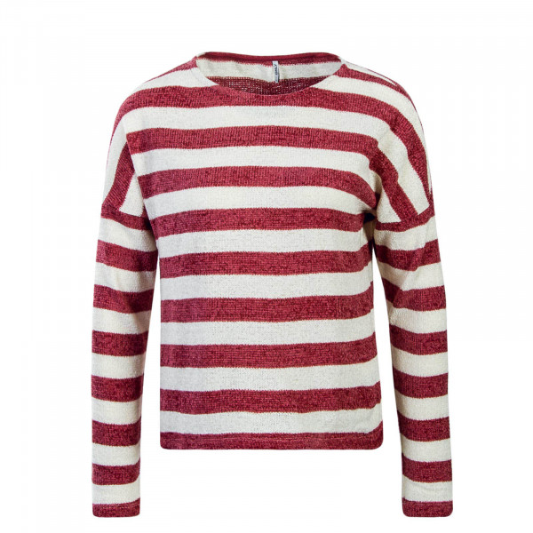 Damen Knit Star Stripe Rosa White
