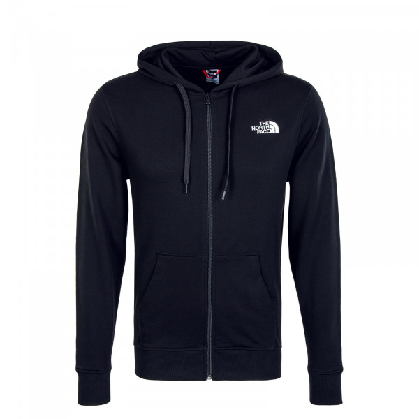 Herren Sweatjacke - Open Gate Full Zip Hoody Light - Black
