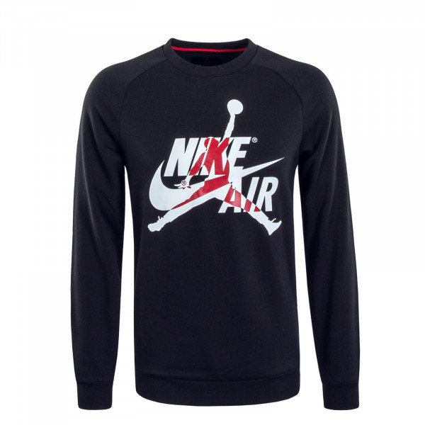 Herren Sweatshirt Jumpman Black White Red