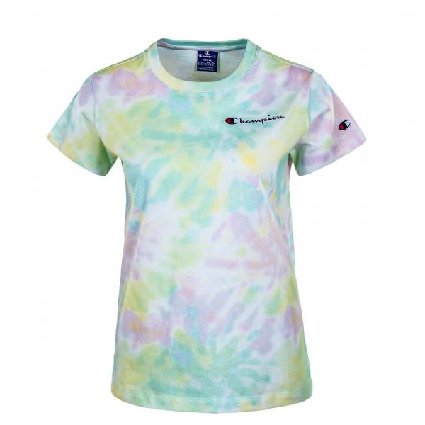 Damen T-Shirt - Crewneck 113939 - White / Allover / Multi