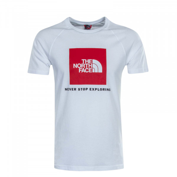 Herren T-Shirt Rag Box White Red